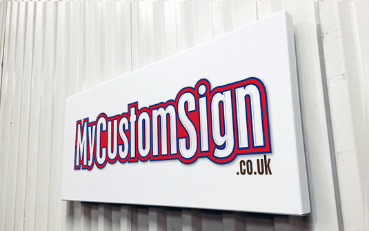 Design and personalize aluminium tray signs online - Fast delivery